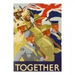 RAF Together Life Size Postcard (Khaki)