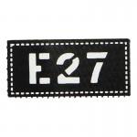E27 Patch (Black)