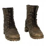Chaussures aspect usé (Marron)