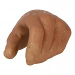 Main gauche homme européen avec transpiration