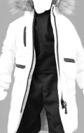 Cotton Coat Suit Set (White)