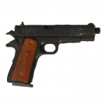 M1911 A1 Colt 45 Pistol with Leather Chest Holster (Black)