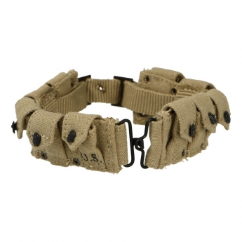 M29 Belt with M1 Garand Utility Cartridge Pouches (Sand)