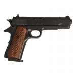 M1911 A1 Colt 45 Pistol with M17 Leather Holster (Black)