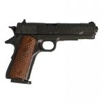 Pistolet Colt 45 M1911 A1 avec holster Md 17 en cuir (Noir)