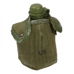 Worn M56 Canteen with Pouch (Olive Drab)