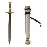 Epée Xiphos de Fantassin Hoplite en métal avec fourreau (Gris)