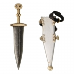 Diecast Pugio Dagger with Scabbard (Silver)