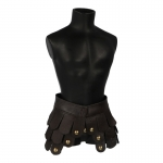 Leather Gladiator Skirt (Brown)