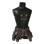 Damaged Leather Gladiator Skirt (Brown)