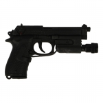 M9 Beretta Pistol with Surefire (Black)