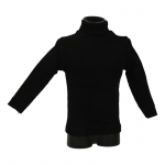 Turtleneck T-shirt (Black)