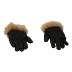 Flexible Fur Gloved Hands (Black)