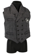Waistcoat with Sheriff Badge (Grey)