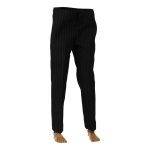 Striped Suit Pants (Black)