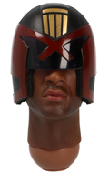 African Male Headsculpt with Judge Helmet
