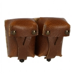 Leather Ammo Pouches (Brown)