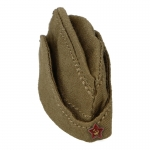 Red Army Pilotka Side Cap (Olive Drab)
