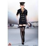 Female Sexy Flight Attendant Suit Set (Black)