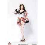 Female Traditional Asian Dress Set (White)