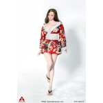 Female Traditional Asian Dress Set (Red)