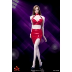 Female Sexy Lady Leather Suit Set (Red)