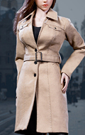 Set Trench Coat Suit Femme (Beige)