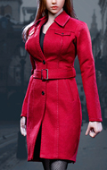 Set Trench Coat Suit Femme (Rouge)