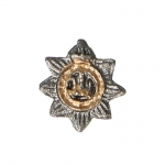 Diecast Devonshire Regiment Cap Badge (Grey)