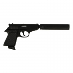 Walther PPK Pistol with Silencer (Black)