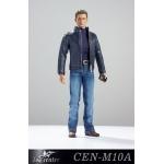 Captain Fashionable Leather Suit Set (Blue)