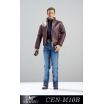Captain Fashionable Leather Suit Set (Brown)