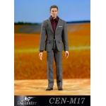 Suit Leisure Gentleman's Narrow Shoulder Set (Grey)