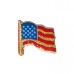 Insigne de col drapeau Etats-Unis (Rouge)