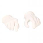 Mains gantées (Blanc)
