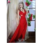 Tianji Wang Hexi Evening Gown (Red Version)