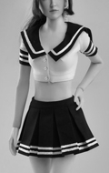 Sexy Schoolgirl Set (Black)