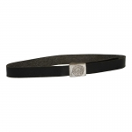 Leather Heer Buckle Belt (Black)