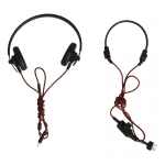 Panzer Headphones with Throat Microphone (Black)