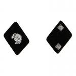 Totenkopf Oberscharfuhrer Collar Tabs (Black)