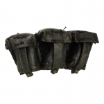 Worn Leather Kar98 Ammo Pouches (Black)