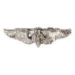 Diecast USAAF Bombardier Wings Badge (Silver)