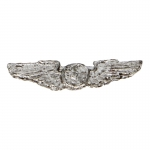 Diecast USAAF Navigator Wings Badge (Silver)