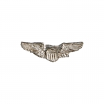Diecast USAAF Pilot Wings Badge (Silver)