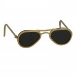 Diecast RayBan Sunglasses with Leather Pouch (Gold)