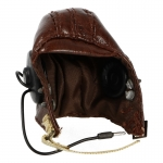 Leather AN-H-16 Flying Helmet with A-14 Mask (Brown)
