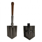 Diecast Folding Entrenching Tool with Leather Cover (Grey)