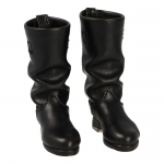 Leather Heer Officer Riding Boots (Black)