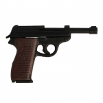 P38 Pistol with Leather Holster (Black)