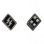 Elite Obersturmbannführer Collars Tabs (Black)